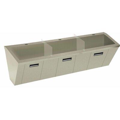 Wall Mount Scrub Sink Size: 26 H x 90 W x 23 D