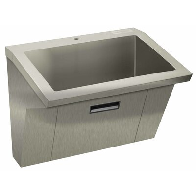 36 x 20 Single Wall Mount ADA Compliant 1 Compartment Scrub Sink