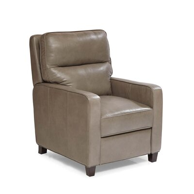 Alameda Leather Manual Recliner Upholstery: Brentwood Heather Gray