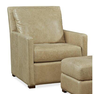 Charlotte Leather Arm Chair Upholstery: Desert Sand