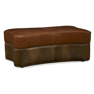 Kasey Cocktail Leather Ottoman
