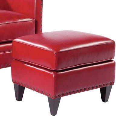 Logan Leather Ottoman