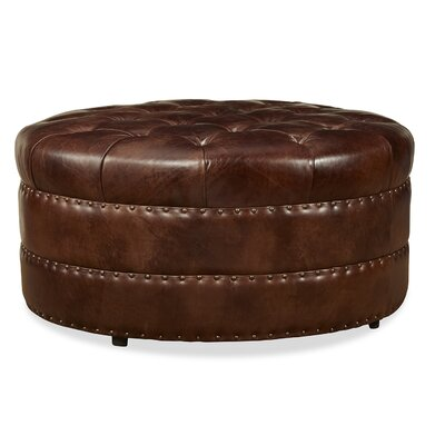 Hudson Leather Cocktail Ottoman