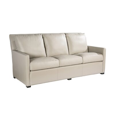 Charlotte Leather Sofa Upholstery: Taupe