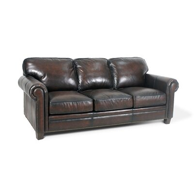 Hillsboro Leather Sofa Upholstery: Stetson Coffee