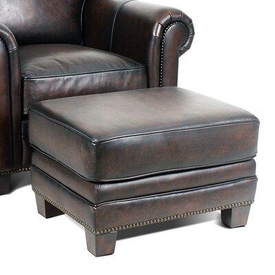 Hillsboro Leather Ottoman Upholstery: Stetson Coffee