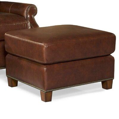 Kingston Leather Ottoman Upholstery: Vintage Auburn