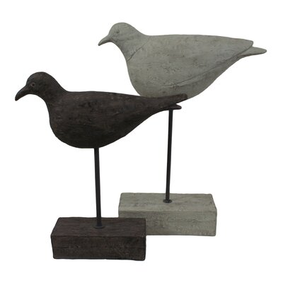 2 Piece Shore Birds Statue Set