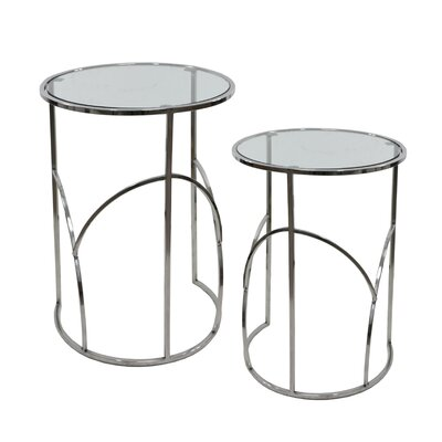 Kimmel Glass 2 Piece Nesting Tables
