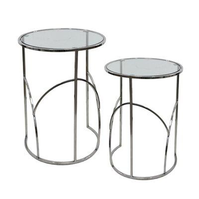 Kimmel Glass 2 Piece Nesting Tables