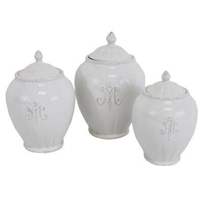 Kastehelmi 3 Piece Storage Jar Set