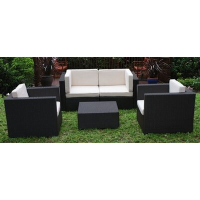 International Home Miami St. Tropez 5 Piece Deep Seating Group with Cushions - Fabric: White at Sears.com