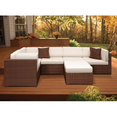 International Home Miami Aventura 6 Piece Deep Seating Group with Cushions - Fabric: Off-White at Sears.com