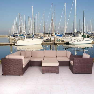 International Home Miami Marseille 8 Piece Deep Seating Group with Cushions - Fabric: Off-White at Sears.com