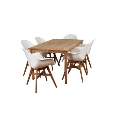 Imler Teak 7 Piece Dining Set