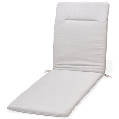 Kelleher Outdoor Chaise Lounge Cushion Fabric: Light Gray