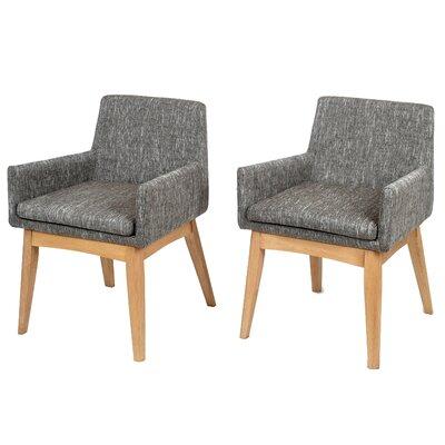 Perla Mid-century Arm Chair Upholstery: Gray