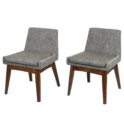 Perla Side Chair Upholstery: Gray