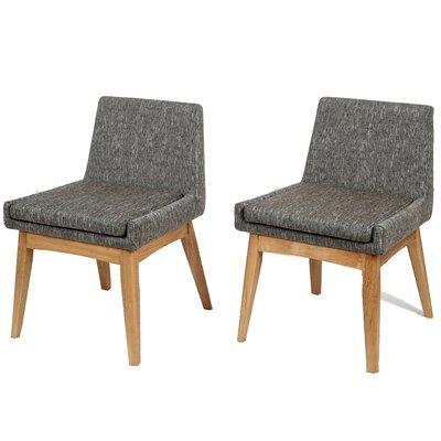 Perla Mid-century Side Chair Upholstery: Gray