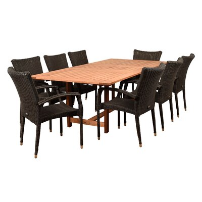 Imler 9 Piece Dining Set with Cushion