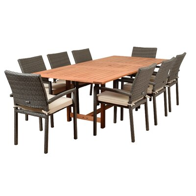 Imler 9 Piece Dining Set with Cushions