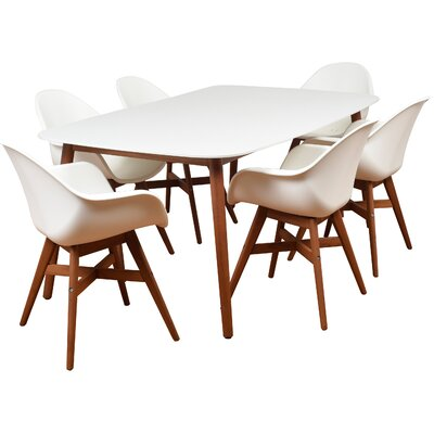 Alshain 7 Piece Wicker Dining Set