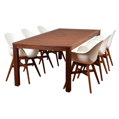 Alshain Contemporary 7 Piece Dining Set