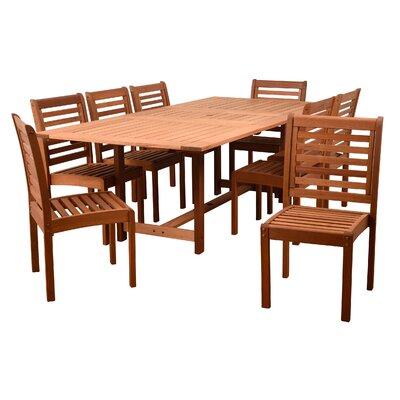 Gutierrez 9 Piece Dining Set