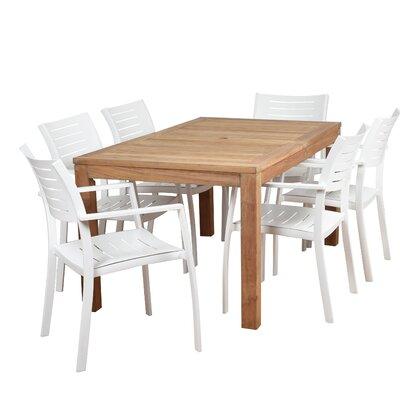 Imler Teak 7 Piece Dining Set