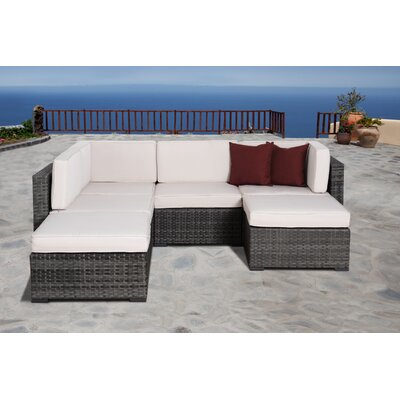 International Home Miami Atlantic 6 Piece Deep Seating Group with Cushions - Fabric: Off-White at Sears.com