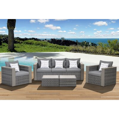 International Home Miami Atlantic Cameron 5 Piece Deep Seating Group with Cushion at Sears.com
