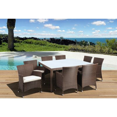 International Home Miami Atlantic Liberty Deluxe 9 Piece Dining Set - Color: Brown / Off-White at Sears.com
