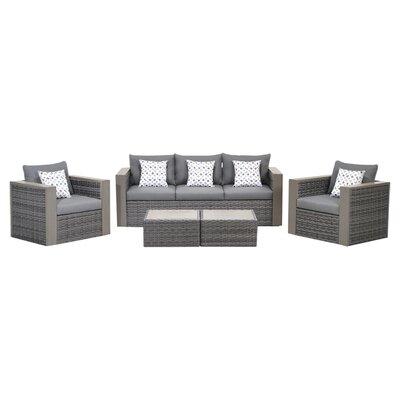 International Home Miami Atlantic Cameron 5 Piece Deep Seating Group with Cushion at Sears.com