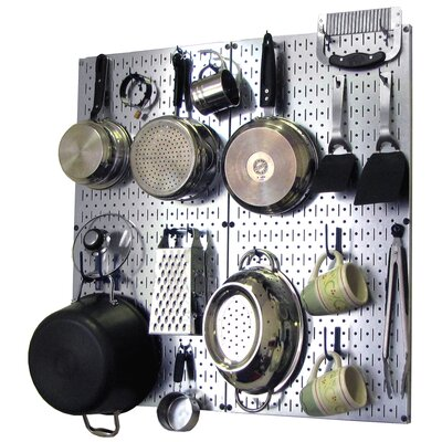 Wall Control Kitchen Pegboard Organizer Pots and Pans Pegboard Pack - Finish: Gray and Blue at Sears.com