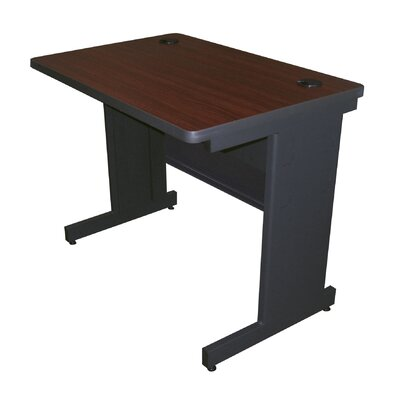 36 W Pronto Training Table Tabletop Finish: Mahogany Laminate/Dark Neutral, Size: 29 H x 36 W x 30 D
