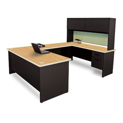 Pronto Executive Desk with Flipper Door Unit Top Finish: Oak Product Picture 757