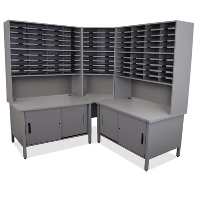 100 Compartment Mailroom Organizer Finish: Slate Gray