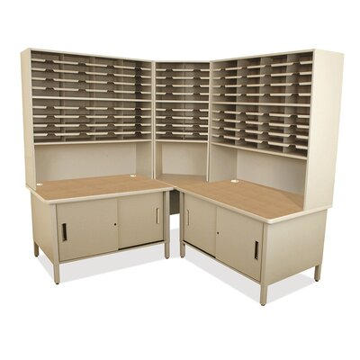 100 Compartment Mailroom Organizer Finish: Putty