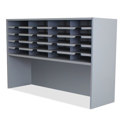 Mailroom 20 Pocket Sorter/Riser Finish: Slate Gray