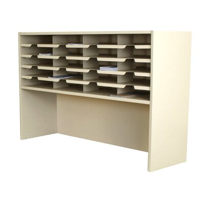 Mailroom 20 Pocket Sorter/Riser Finish: Putty
