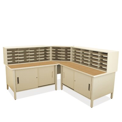 50 Compartment Mailroom Organizer Finish: Putty