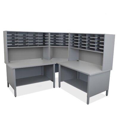 50 Compartment Mailroom Organizer Finish: Slate Gray