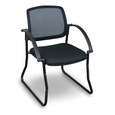 Fermata� Mesh Sled Base Visitor Chair with Arms Finish: Black