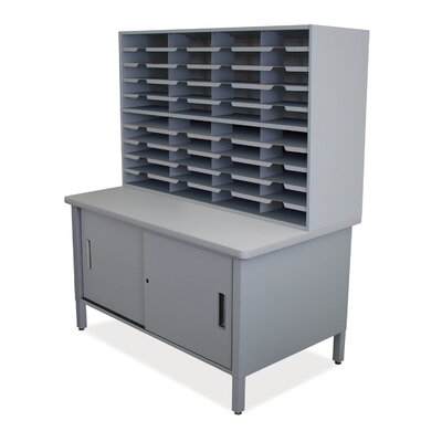 40 Compartment Mailroom Organizer Finish: Slate Gray
