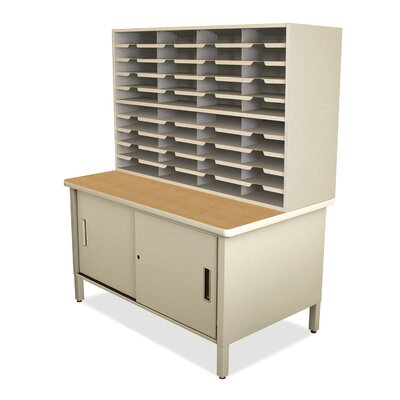 40 Compartment Mailroom Organizer Finish: Putty