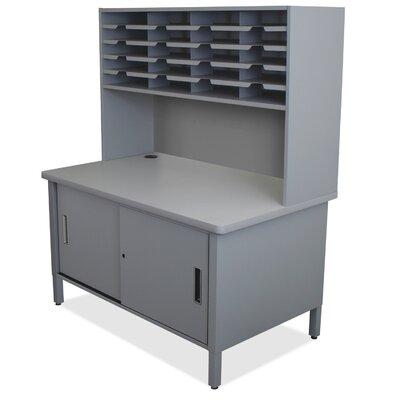 20 Compartment Mailroom Organizer Finish: Slate Gray