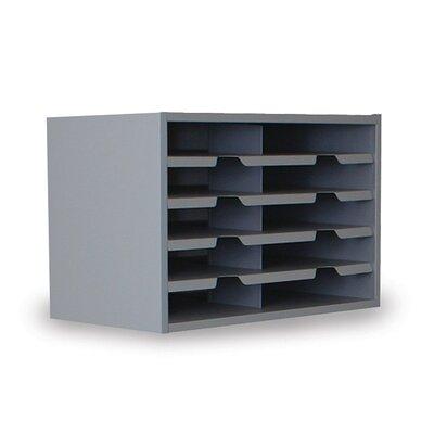 Mailroom 10 Pocket Sorter Finish: Slate Gray