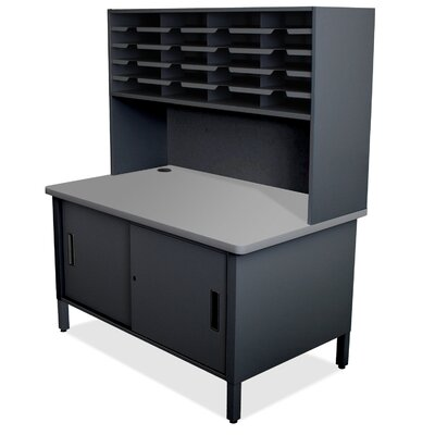 20 Compartment Mailroom Organizer Finish: Black