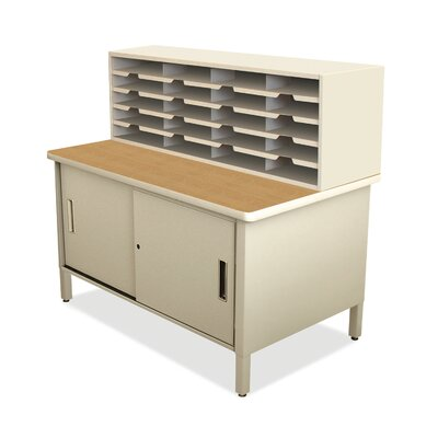 20 Compartment Mailroom Organizer Finish: Putty
