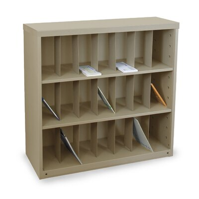 Mailroom Vertical Sorter with 21 Pockets Finish: Putty